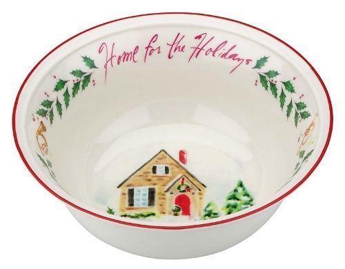 "Lenox, Holiday Inspirations, Home for the Holidays 8"" Bowl  ($40) NIB"