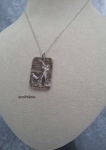 Hunter And Dog Necklace-925 Silver - $35.00