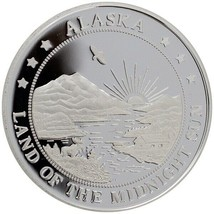 Alaska Mint Moose & Calf Silver Medallion Proof 1Oz - $86.12