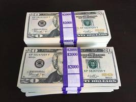 16.000 Prop Money Replica 20s New Style Full Print For Movie Video Etc 8 Stacks - $152.99
