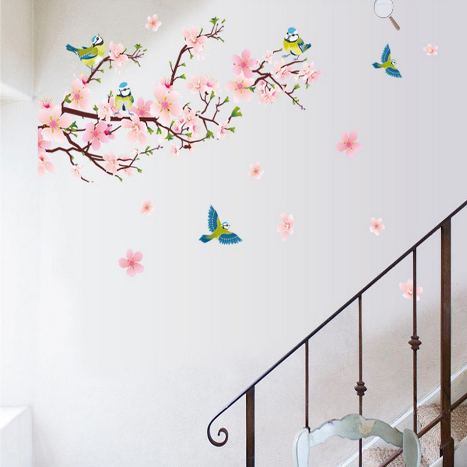 Removable Peach Blossom Flowers Wall Stickers For Kids Rooms Art