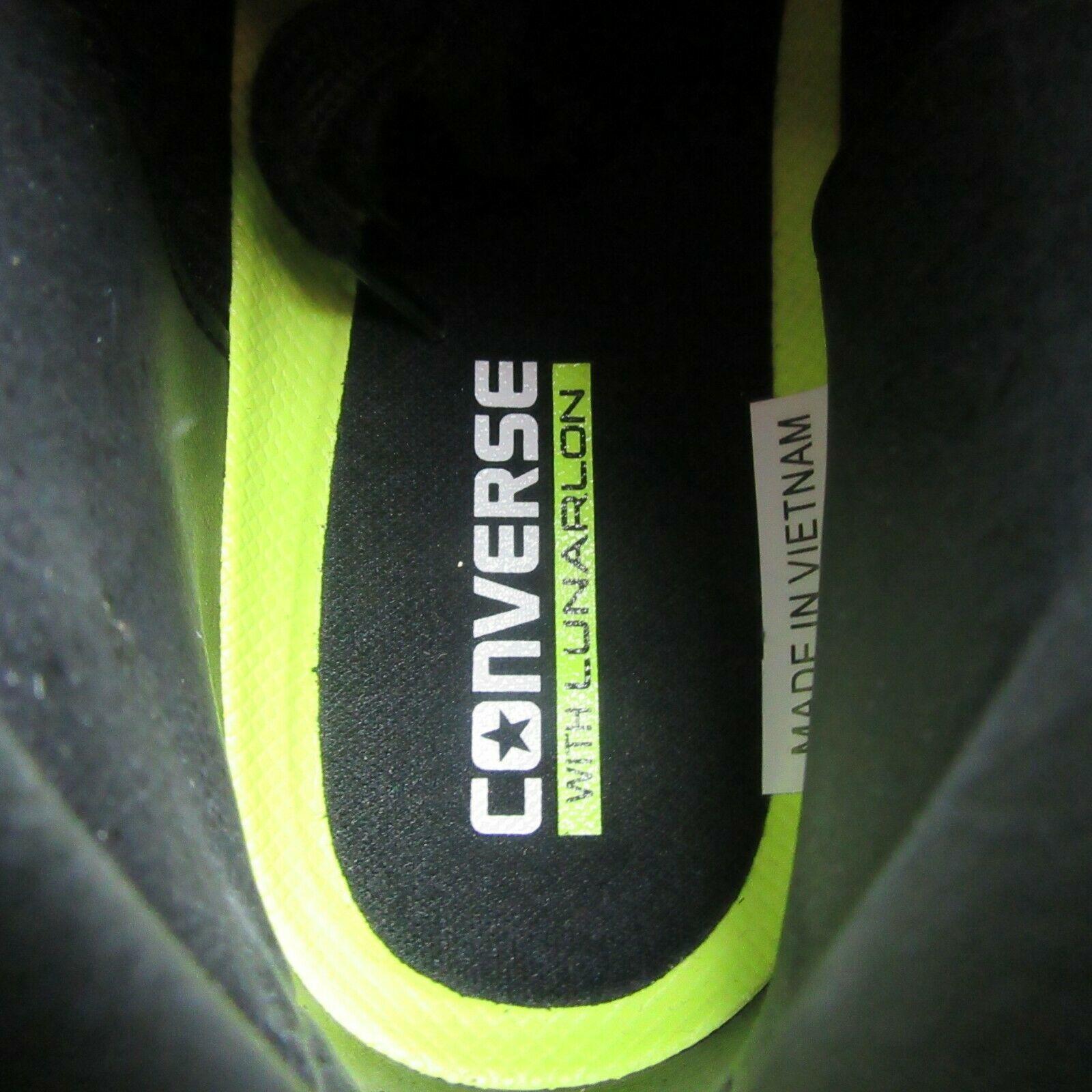 Converse PL 76 Mid Leather Top Size 9 Mens Triple Black Lunarlon 155334C New