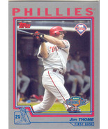Jim Thome ~ 2004 Topps Opening Day #1 ~ Phillies - $0.30