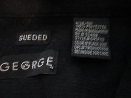 Mens Shirt Medium George Black Sueded TF240/ALS - $10.93