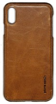 Pierre Cardin Genuine Leather Back Case for Apple iPhone XS Max Brown Ha... - $15.84
