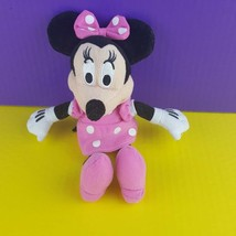 "Disney Pink Plush Minnie Mouse 8"" Stuffed Toy Bean Bag Just Play  - $7.13"