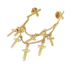 Angle Collar Shirt Collar Pin Collar Chain Brooch Decoration, Crosses