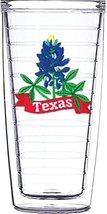 Blue Bonnet Texas Emblem on Clear Traveler 16 Oz Tumbler Cup - $17.95