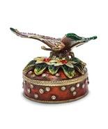 Bejeweled Butterfly & Flowers Trinket Box - $77.99