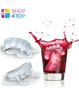 VAMPIRE TEETH FANGS SHAPE BLOOD ICE CUBE JELLY MAKER TRAY MOULD MOLD DRI... - $4.45