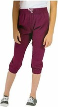 NWT Boston Trader Youth Girls' Capri Crop Travel Pants Dark Purple, Smal... - $19.79