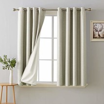 Deconovo 100% Blackout Room Darkening Curtains Thermal Insulated Curtain... - $38.21