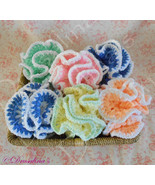 Crochet Bath Pouf Poof Puff Exfoliate Handmade Luxury Shower Vintage Dis... - $6.99
