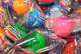 GUMBALLS ASSORTED FLAVORS WRAPPED BUBBLE GUM 25mm or 1 inch-5LBS - $38.74