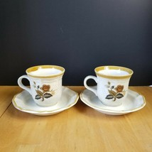 Mikasa Garden Club Imperial Garden Cups and Saucer Sets (2 Cups 2 Saucers) - $4.90