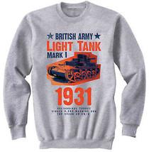 TANK MARK I - BRITISH ARMY - NEW COTTON GREY SWEATSHIRT - $31.88