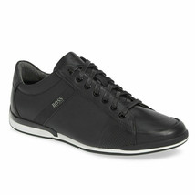Hugo Boss Men's Premium Sport Leather Sneakers Shoes Saturn Lowp lux4