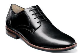 Nunn Bush Fifth Ward Flex Plain Toe Oxford Shoes Black Leather 84815-001 - $84.60