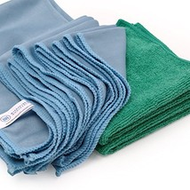 Microfiber Glass Cleaning Cloths - 8 Pack | Lint Free - Streak Free | Quickly an