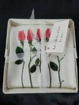 BUZIA NEW in Box Pink Rose Socks Gift One Size Fits Most Cotton Blend  - $15.33