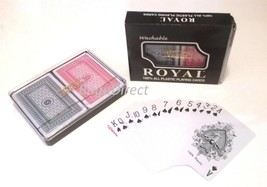 3 Sets Of Double Decks Playing Cards Royal Brand Washable 100% Plastic (... - $18.80