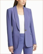 new DKNY women dress jacket Art Deco DU8E1271 blue 0 MSRP $129 - $44.99