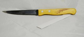 """USINGER'S Collectible SERRATED 9"""" KNIFE Sausage Advertisement 4.5"""" Wood ... - $11.65"""
