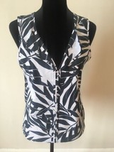 Sanctuary Clothing Women's Top Size Small Black White Sleeveless V-Neck - €17,80 EUR