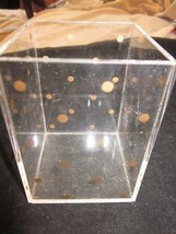 ACRYLIC CLEAR AND GOLD DOT PENCIL AND PEN HOLDER USED - €8,71 EUR