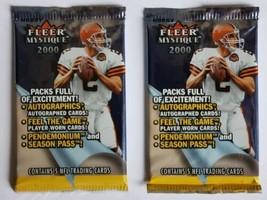 (2x) 2000 Fleer Mystique Football HOBBY Packs - Tom Brady Rookie Card?! - $59.35