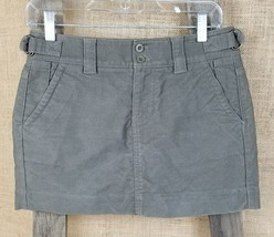 Gap women's 0 mini straight skirt grunge hipster brown outdoor - $11.83