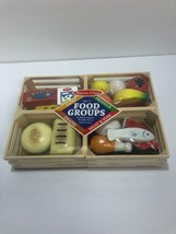 Melissa & Doug Food Groups Wooden Play Food 271 Brand New Wooden Toy Play Time - $10.88