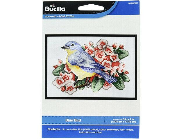 Bucilla Blue Bird Counted Cross Stitch Kit #WM46265E - $9.99