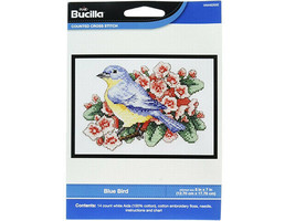 Bucilla Blue Bird Counted Cross Stitch Kit #WM46265E - $8.99