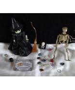 Wizard Oz Witch NIP McDonalds Gemstones 3D Skeleton Spellbook Broom Ouij... - $49.99