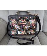 Nicole Lee Satchel Black Floral Shoulder Bag Crossbody Beautiful - $69.99