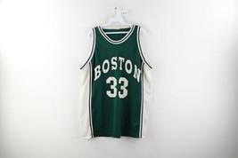 Vintage 90s Mens XL Boston Celtics Larry Bird Basketball Jersey #33 Gree... - $59.35