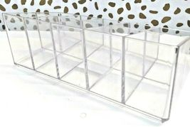Made by Design Lucite Nail Center Makeup Organizer 2.9 inches high x 4 inches  image 6