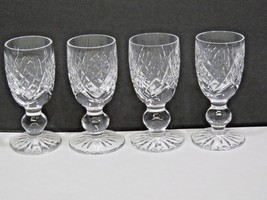 """Set of 4 Waterford Donegal Aperitif Liquor Glass Cordials 3 1/4"""" - $84.15"""
