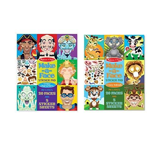 Primary image for Melissa & Doug Make a Face Sticker Pad Set - Crazy Characters and Crazy Animals