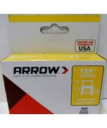 "Arrow Fastener 591189CL T59 Insulated Staples, 5/16"" Clear 300/Box NEW! - $6.31"