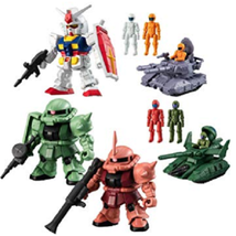 BANDAI Mobile Suit Gundam MICRO WARS Candy Toy Complete Set of 5 - $90.99