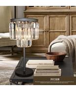 1920s Odeon Clear Glass Fringe Table Lamp E14 Light Home Lighitng Decor ... - $343.29