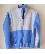 The North Face Girls Denali fleece Jacket gray blue large 14 - $19.79