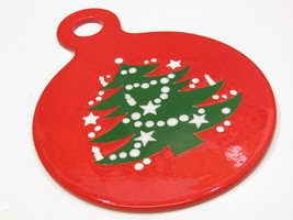 Waechterbach Pottery Christmas W.Germany Round Cheese Plate Trivet Serve... - $34.65