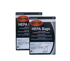 EnviroCare 12 Riccar Simplicty HEPA Canister Replacement Vacuum Bags RHH-6 C19-6 - $23.74