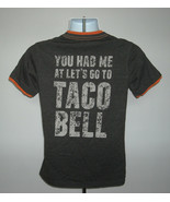 You Had Me at Let's Go to Taco Bell t shirt Womens Small Gray Cotton Poly - $21.73