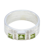 Genuine Ring Peridot Ring 925 Sterling Silver Ring Excellent Ring Green Ring US - $19.99