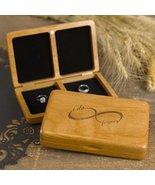 Infinity I do Forever Wooden Wedding Ring Bearer Box Gift - $42.75