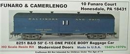 Funaro & Camerlengo HO B&O C-15 50' Baggage modern door ONE PIECE BODY Kit 8251 image 1